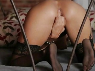 tempting blond honey prinzzess fingering her love