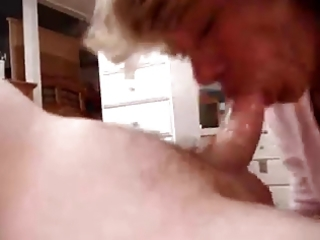older swallows his load