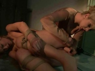 femdom-goddess punishing nice-looking blond