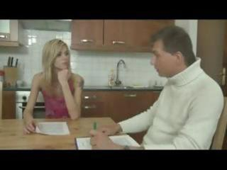 slim little golden-haired gal receives licked and