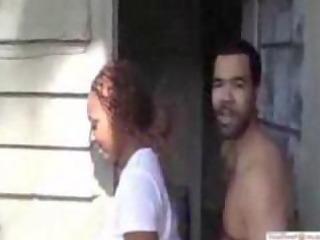 ghetto wench receives dared to fuck in public