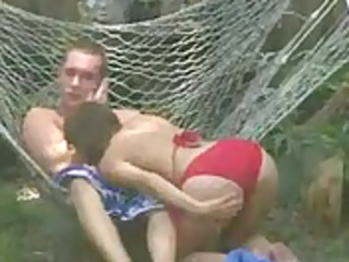 gal getting drilled in the backyard brother0101s