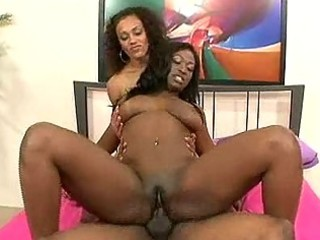 7 large titty darksome babes receive off on 1 rod