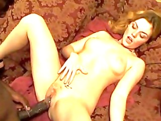 hawt blond can darksome cock aperture cookie