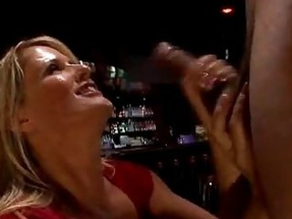 lusty cougar bridgett lee stuffs her face hole
