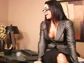 breasty boss eva angelina called me in to engulf