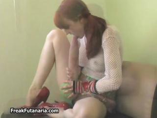 bawdy redhead playgirl getting lustful jerking