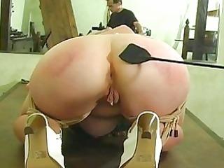 butt beaten until its blue