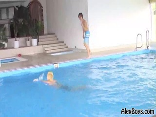 alexboys arpard raoul play in a pool