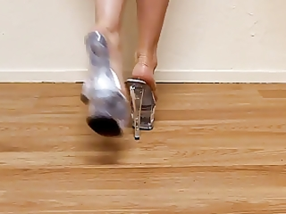 hawt feet clear plattform-- sexys tacones