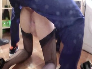 older wench blows her youthful dudes hard rod in