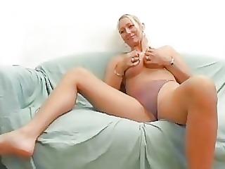 slutty blond german playgirl bonks on camera