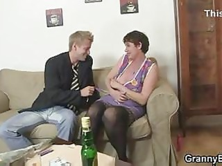 her curly old cum-hole acquires hammered
