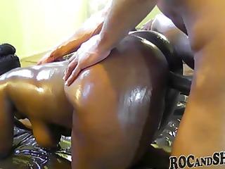 oiled ebon pair fuck !!