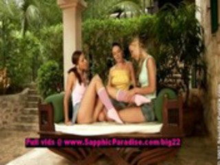 tania and juliette and tina lusty lesbian gals