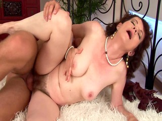evelyns unshaved older bawdy cleft group-fucked
