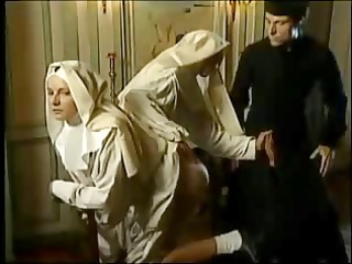 nuns pray with fists