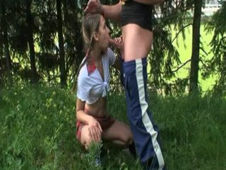 beauty in school uniform outdoor sex