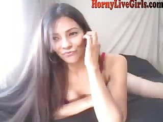 hawt latin babe indecent talk and squirt by