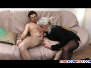 aged blond russian elena blows his schlong and