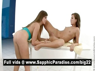 cate and natali charming lesbians licking and