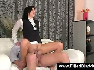 rich snob has lads pissing on her