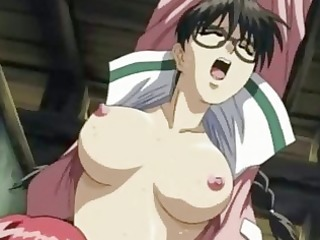 Anime lesbians rubbing and licking wet cunts
