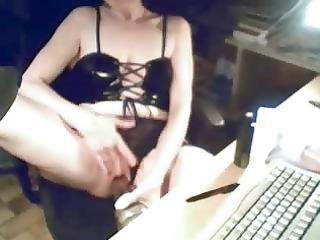 my mum masturbates at computer. hidden livecam