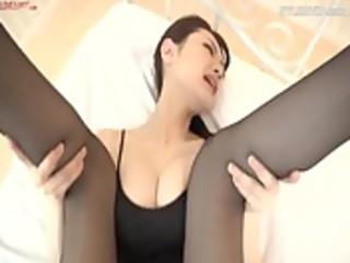 ballerina dancer screwed in hose nylons hose ,