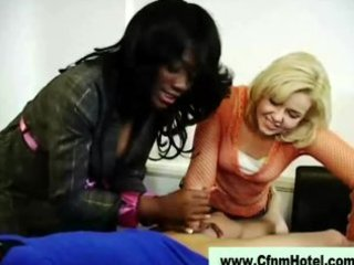 pounder engulfing femdom strumpets