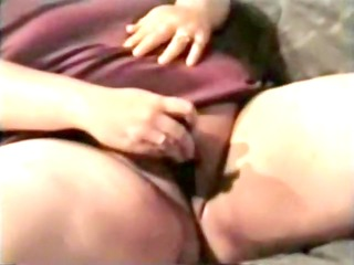 fatty drills her fur pie with sex toys