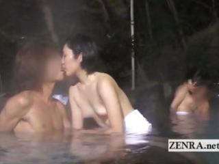 idyll japanese outdoor mixed bathing group