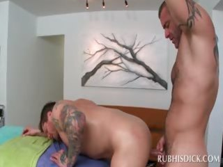 str chap has his st homo anal sex with the masseur