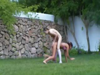 spanish hotties watersports in the garden