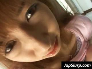 youthful asian minx is hassled untill she is