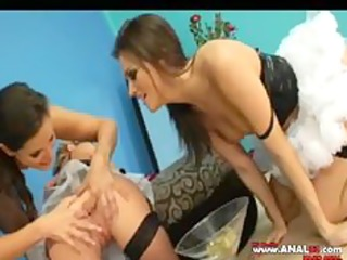 three-some hot lesbos bottom playing