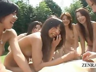 japanese nudists have outdoor cook jerking and