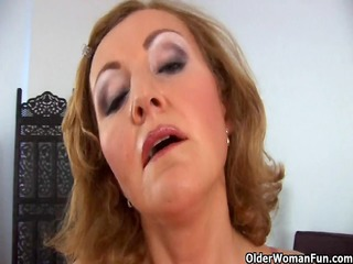diminutive titted senior lady fucked from behind