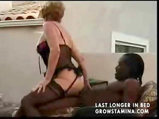 dark brown granny can a hard penis but actually