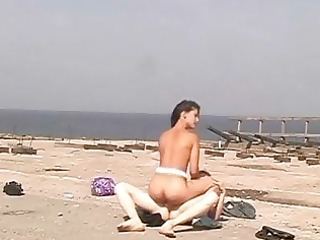 legal age teenager snatch screwed on the beach