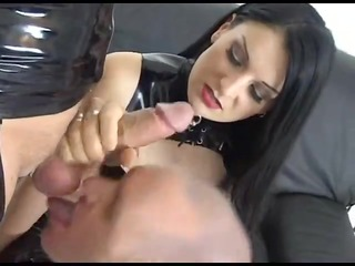 Submissive cuckold boyfriend joins his girlfriend