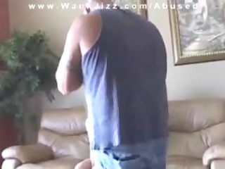 cheating whore painted with cum