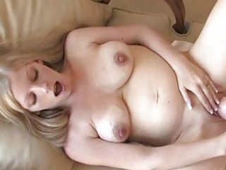 leah delicate preggo blond toying