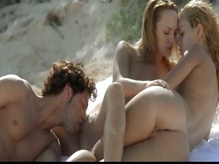 outdoor hawt three-some group-sex