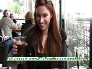 sabrina charming brunette hair sweetheart public