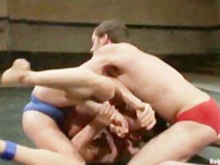 undressed female wrestling