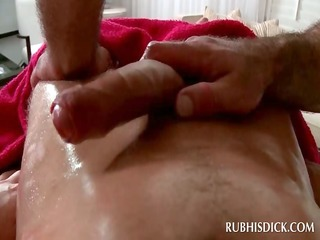 golden-haired lad getting his dick homo blown at