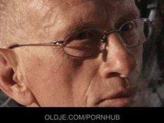 youthful hotty bonks the old guy for being meddler