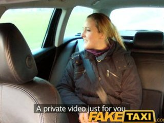 faketaxi disappointed professional in back seat